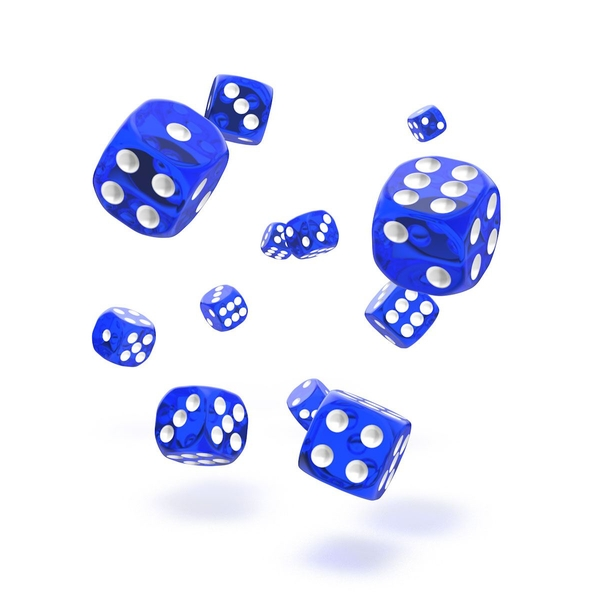 Oakie Doakie Dice D6 (Translucent Blue)