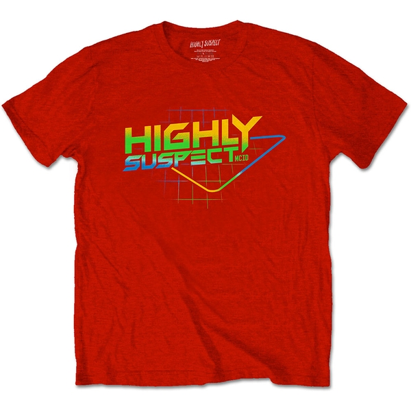 Highly Suspect - Gradient Type Unisex Large T-Shirt - Red