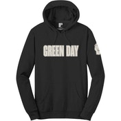 Green Day - Logo & Grenade Men's Small Pullover Hoodie - Black