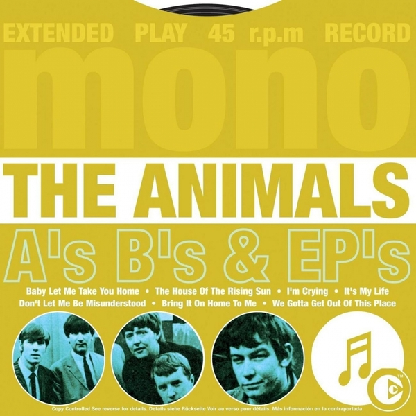 The Animals - As Bs & EPs Music CD - Image 1