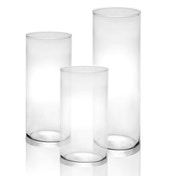 Glass Candle Cylinders - Set of 3 | M&W