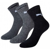 Puma Short Crew Socks Ant/Grey UK Size 9-11 Pack 3