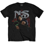 Nas - Red Rose Men's Small T-Shirt - Black