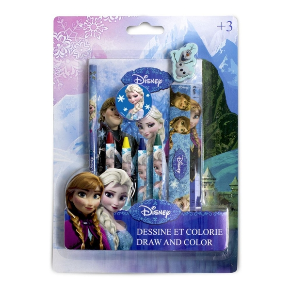 Disney Frozen Draw and Colour Creative 9 Piece Activity Kit