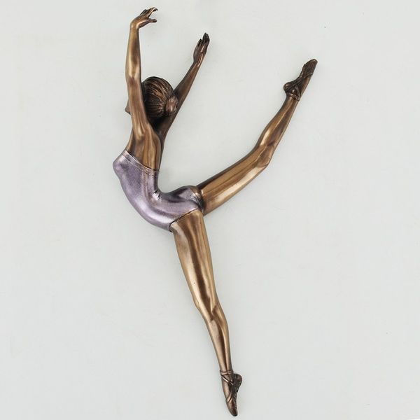Ballerina Pose 2 Cold Cast Bronze Wall Plaque