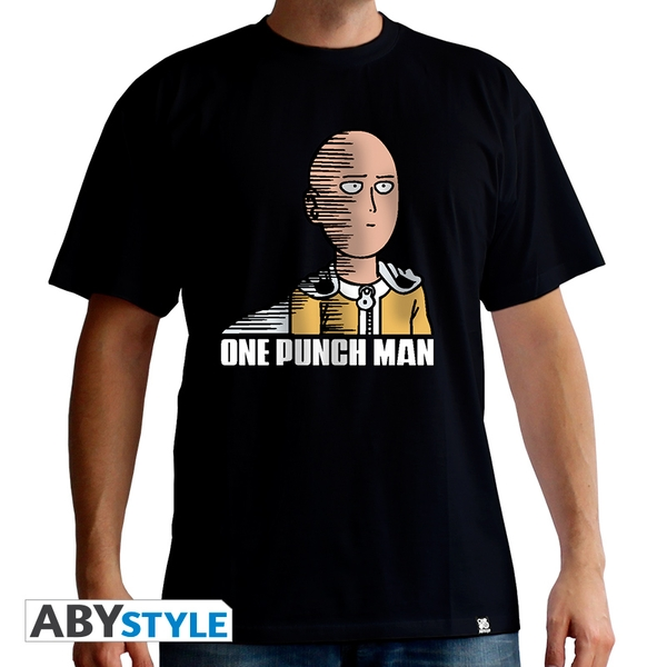 One Punch Man - Saitama Fun Men's Medium T-Shirt - Black