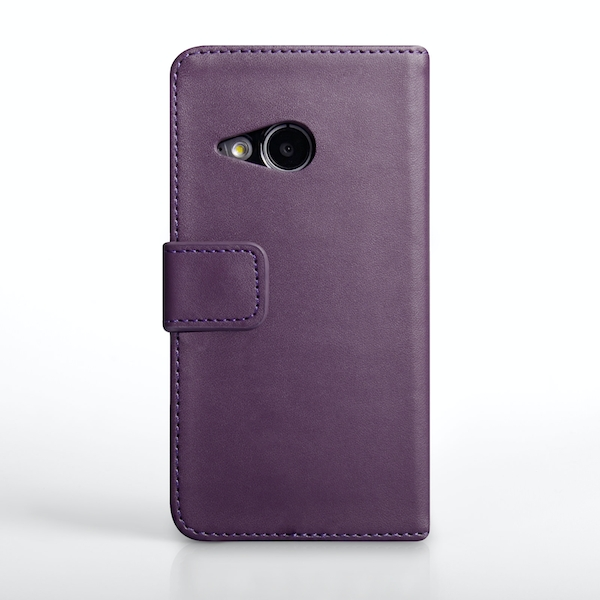 YouSave Accessories HTC One Mini 2 Leather-Effect Wallet Case - Purple - Image 2