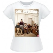 One Direction Band Lounge Colour Skinny White TS: Large