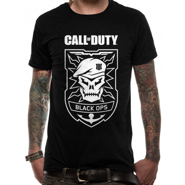 Call Of Duty - Black Ops Skull Men's Large T-Shirt - Black
