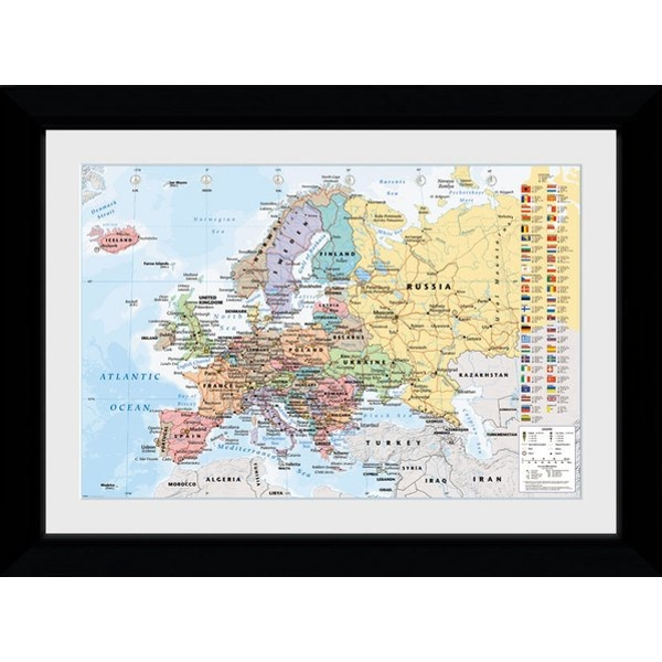 European Map 2017 Collector Print