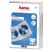 Hama Slim DVD Double Jewel Case, pack of 5, transparent