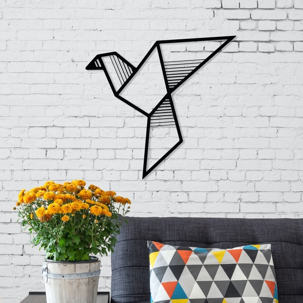 Fly Black Decorative Metal Wall Accessory