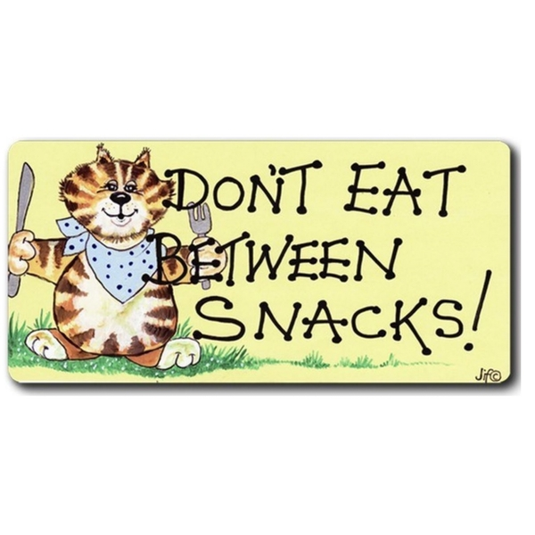 Don't Eat Between Snacks Smiley Magnet Pack Of 6