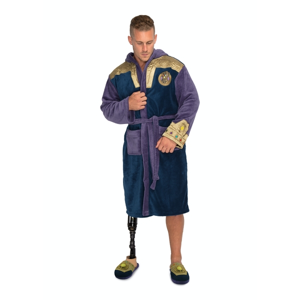 Thanos Outfit Marvel Fleece Adult Robe - Image 1