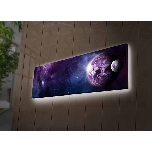 3090NASA-003 Multicolor Decorative Led Lighted Canvas Painting