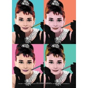 Audrey Hepburn - Pop Art Postcard