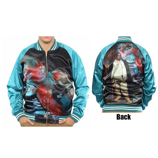 Biggie Smalls - Turqoise Unisex Small Bomber Jacket - Blue/Green