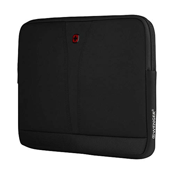 """Wenger 606460 BC TOP 14"""" Laptop Sleeve, Durable ballistic fabric with a Zippered Pocket in Black {4 Litres}"""