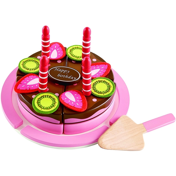 Hape Double Flavored Birthday cake Wooden Playset