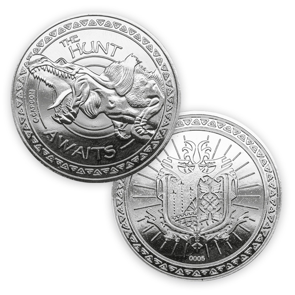 Monster Hunter World Limited Edition Coin (Silver) - Image 1