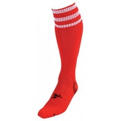 PT 3 Stripe Pro Football Socks Boys Red/White