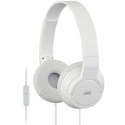 JVC HASR185W Lightweight Powerful Bass Headphones with Remote & Mic White