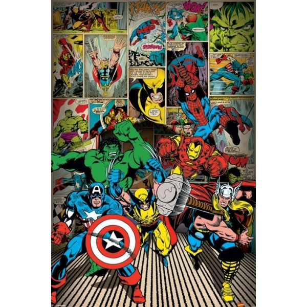 Marvel Comics Here Come The Heroes Maxi Poster