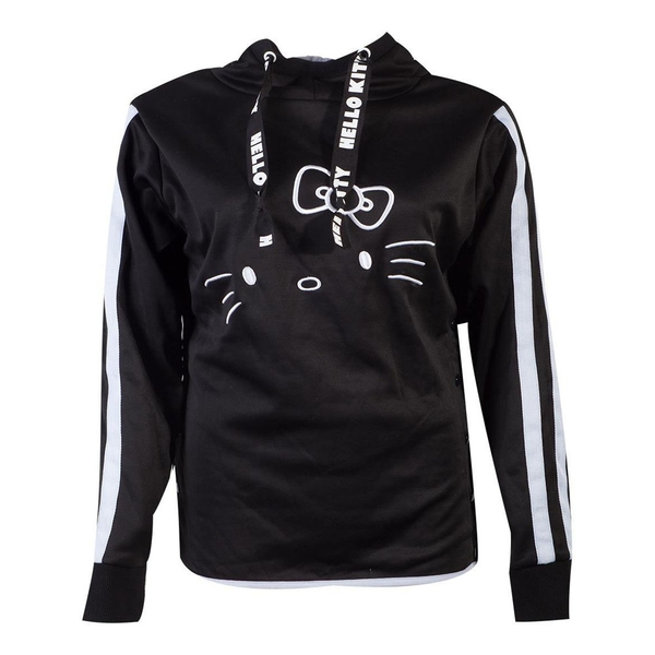 Hello Kitty - Hello Kitty Side Buttons Women's X-Large Hoodie - Black