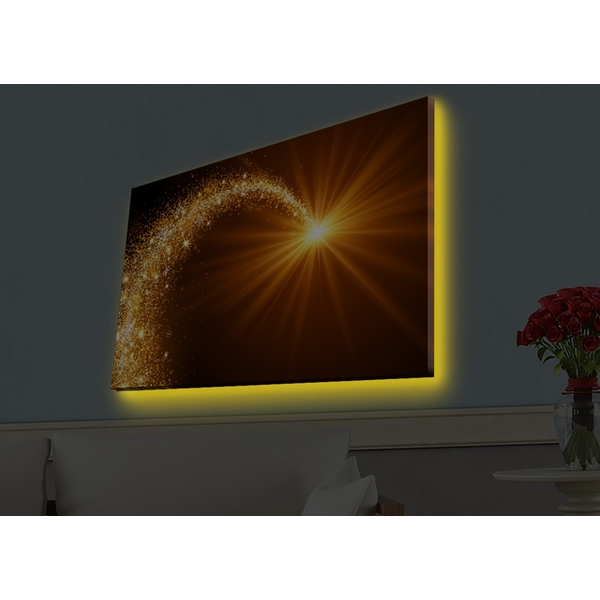4570HDACT-046 Multicolor Decorative Led Lighted Canvas Painting
