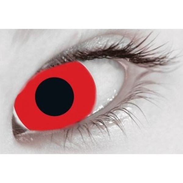 Mini Sclera Red 1 Month Coloured Contact Lenses (MesmerEyez)