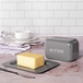 Butter Dish with Lid M&W Grey - Image 2