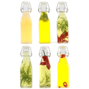 Set of 6 Clip Top Preserve Bottles | M&W 250ml