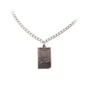 Nintendo Super Original Gameboy Metal Twisted Link Chain Pendant Necklace