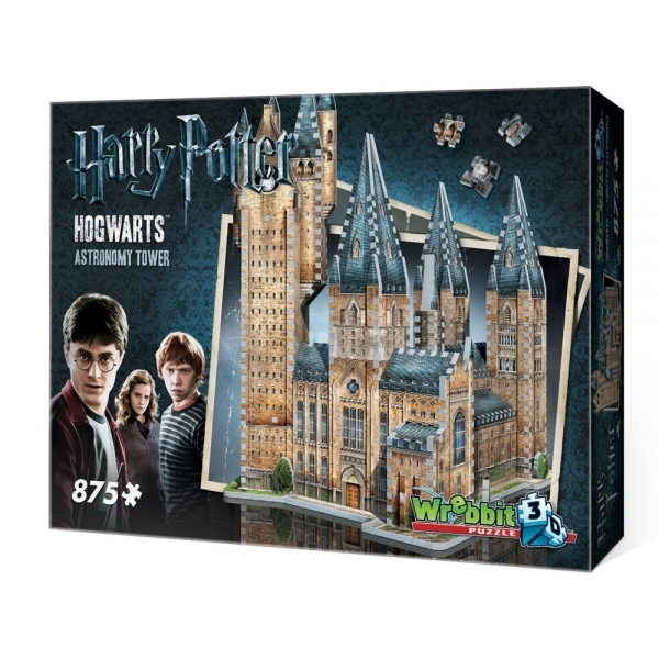 Harry Potter Hogwarts Astronomy Tower 3D Jigsaw 875 Pieces - Image 1