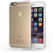 Apple iPhone 6/6S Plus Clear Gel Case with Black Camera Hole
