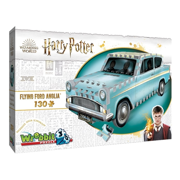 Image of Wrebbit 3D Harry Potter Flying Ford Anglia Jigsaw Puzzle - 130 Pieces