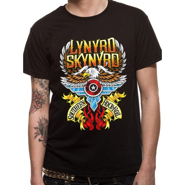 Lynyrd Skynyrd - South 'N' Rock And Roll Unisex Small T-shirt - Black