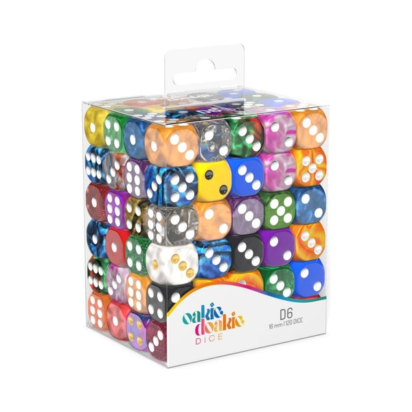 Oakie Doakie Dice D6 Dice Retail Pack 16 mm Mixed