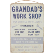 Grandad's Work Shop Plaque