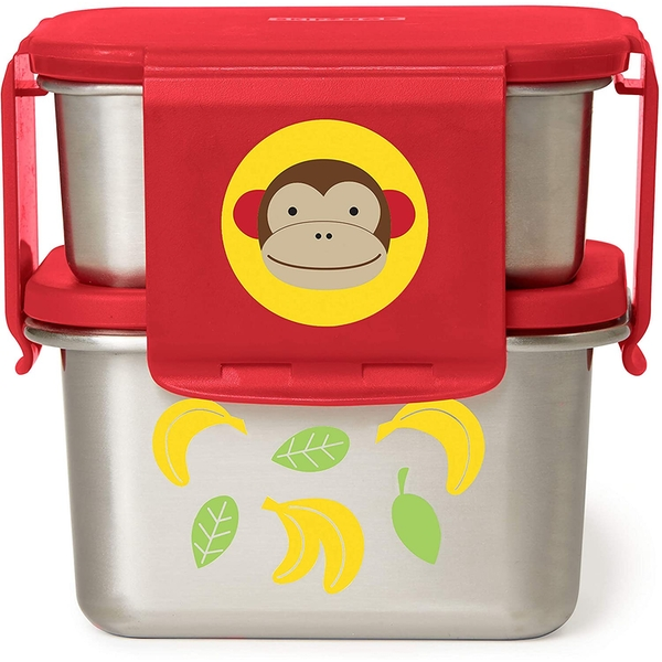 Skip Hop Stainless Steel Monkey Lunch Kit