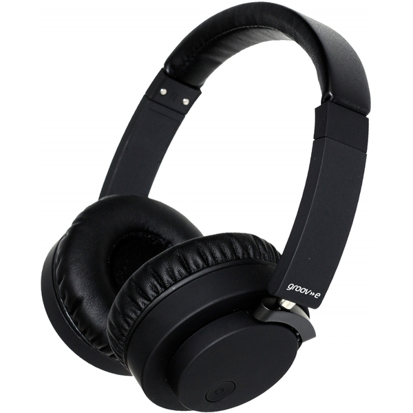 Image of Groov-e GVBT400BK Fusion Wireless Bluetooth or Wired Stereo Headphones Black