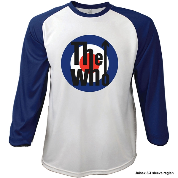 The Who - 1969 Pinball Wizard Men's X-Large Raglan T-Shirt - Navy Blue, White