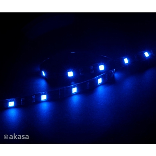 Akasa Vegas M AK-LD05-50BL Blue Magnetic 15 LED Strip Light