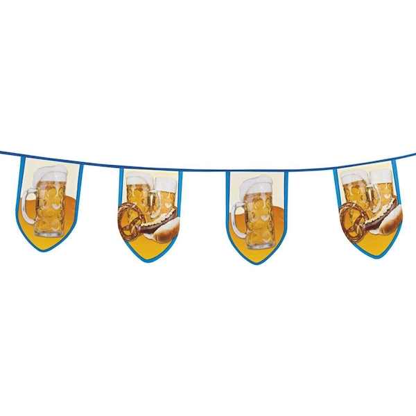 Beer Party Bunting Banner (Blue/White)
