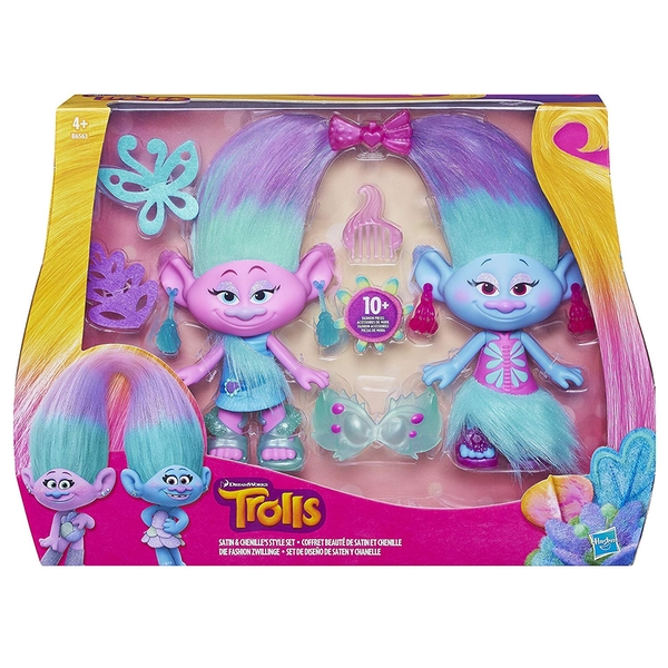 Totum Trolls Dreamworks Satin and Chenille's Style Set