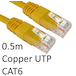 RJ45 (M) to RJ45 (M) CAT6 0.5m Yellow OEM Moulded Boot Copper UTP Network Cable - Image 2
