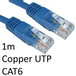 RJ45 (M) to RJ45 (M) CAT6 1m Blue OEM Moulded Boot Copper UTP Network Cable - Image 2