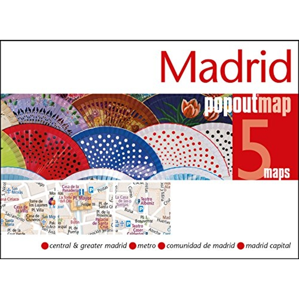 Madrid PopOut Map  Sheet map, folded 2019