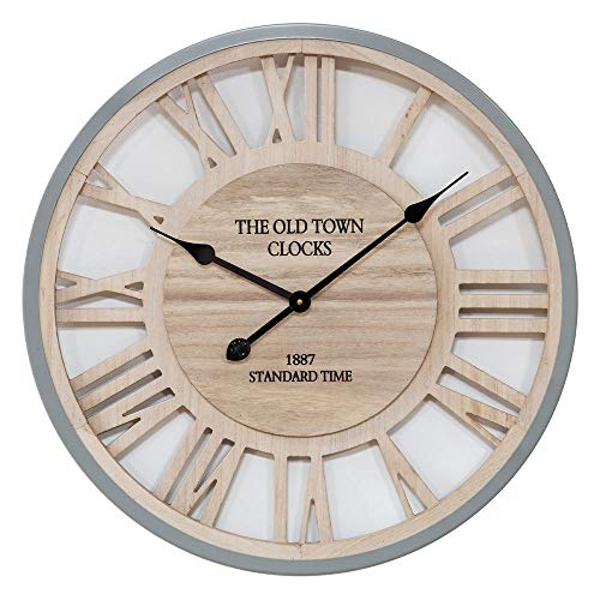 Hometime Wall Clock Cut Out Roman Numerals 62.5cm