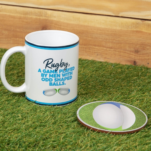 Armchair Supporters Society Mug & Coaster Set - Rugby